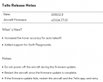 Tello] New firmware 01 04 78 01 released! | DJI Tello Drone Forum
